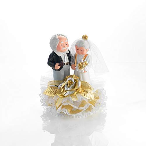 Günthart Porzellan Brautpaar zur goldenen Hochzeit (Basis zum Öffnen), 1er Pack (1 x 240 g)
