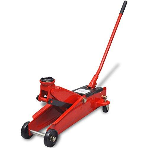Binzhoueushopping hydraulische krik voor de vloer, 3 ton, rood