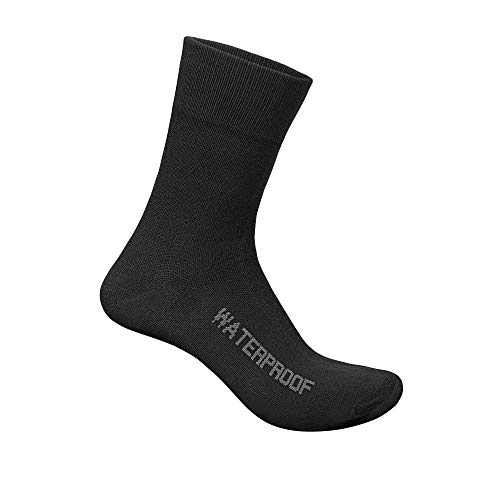 GripGrab Unisex – Adultos Ligeros impermeables térmicos de invierno calcetines de bicicleta cálidos transpirables al aire libre Ciclismo Medias Negro L (42 – 44)