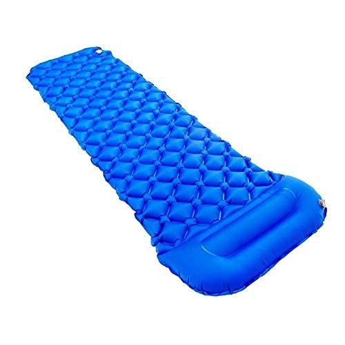 Outdoor gonfiabile Materassino del rilievo Protable TPU Beach Sleeping inflazione Materasso a prova d'umidità Pad campo con il cuscino Adatto per Campeggio Esterno Viaggio ( Color : Fantasy blue )