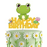 ChienMin Gold Glitter Frog Happy Birthday...
