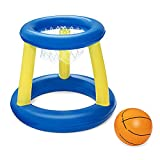 Everpertuk Volleyball Piscine Basketball Piscine Gonflable Piscine Toy,Pool Basketball Hoop,Panier Basket Enfant,Nautiques Sports Été Jouets pour Enfants et Adultes (Basketball)
