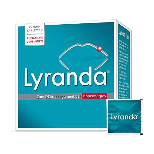 Lyranda bei Lippenherpes mit Ananas-Geschmack – 3000 mg L-Lysin hochdosiert aus Ihrer Apotheke - 20 Kautabletten
