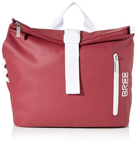 BREE Unisex-Erwachsene Punch 722, Rhododendron, Messenger S W19 Umhängetasche Rot (Rhododendron)