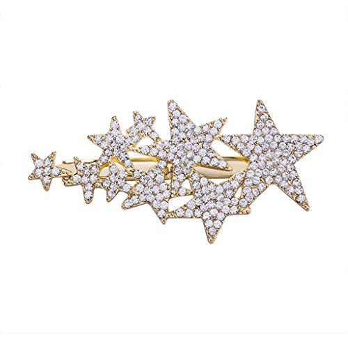 Youlin Haarspange, Stern, Fünf Zacken, exquisit, Haarnadel, Schmuck für Damen und Mädchen