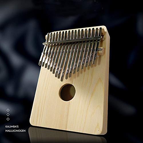 Banane Daumenklavier-Set, Holzfarbe, DIY-Daumenklavier mit 17 Tönen, Carimba-Klavier mit Stimmhammer für Anfänger, Hände rechts