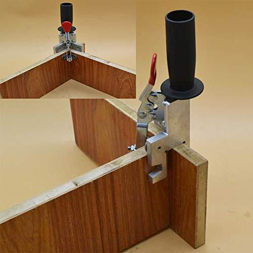 QPLKL Zimmerarbeiten 90 Grad L-förmig Hilfs Fixture Zangen Splicing Platinenpositionierungsplatte befestigt Clip Clamp Carpenter Werkzeug Holzbearbeitungs (Number of Pieces : 1Pcs)