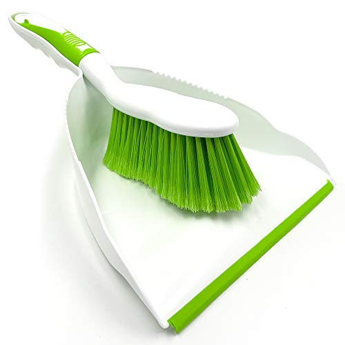 Dustpan and Brush Set , Choose Your Colour (Green)