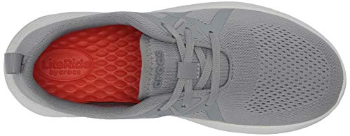 Crocs Men's LiteRide Modform Lace-Up Sneakers Comfort Shoes, Light Grey/White, 9 M US