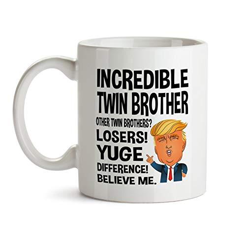 Taza de regalo para hermano gemelo, regalo de Navidad, para hermano gemelo, regalo de hermano gemelo, divertido hermano gemelo, taza de café