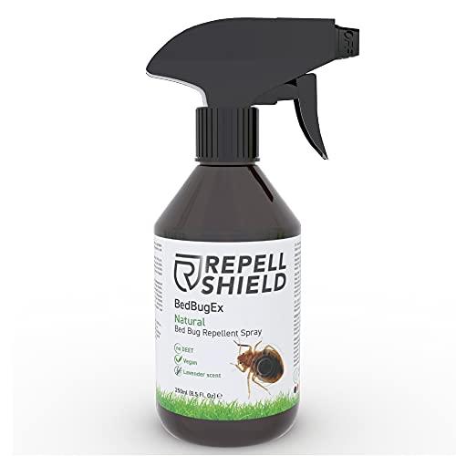 RepellShield Spray Antiacaros Colchón, Alfombras y Sofás - Spray Anti Acaros, Chinches y Más - Alternativa Ecológica a Bomba de Humo y Bomba Insecticida Insectos - Ahuyentador Chinches de Cama, 250ml