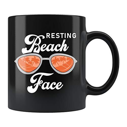 Regalo de playa, taza de playa, regalo de vacaciones en la playa, taza de vacaciones en la playa, taza de playa, regalo para amantes de la playa, taza de viaje de playa, taza de cerámica de 325 ml