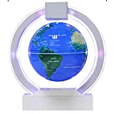 Geographic Globes,Floating Globe 6 inch Colorful LED Levitating Globe Rotating Magnetic Mysteriously Suspended in Air World Map Home Decoration Crafts,Goldencolorfullight Gift