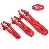3 Pcs Flexible en nylon Colliers de serrage Outil de frein carburant Ligne d'eau Colliers de serrage Pince Outil de mains libres