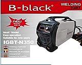 B-black® 300 AMPERE SALDATRICE INVERTER con CAVI 3+2 MT. ELETTRODO PROFESSIONALE 300A