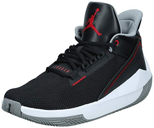 Nike Herren Jordan 2x3 Basketballschuh, Black Gym Red Particle Grey White, 41 EU