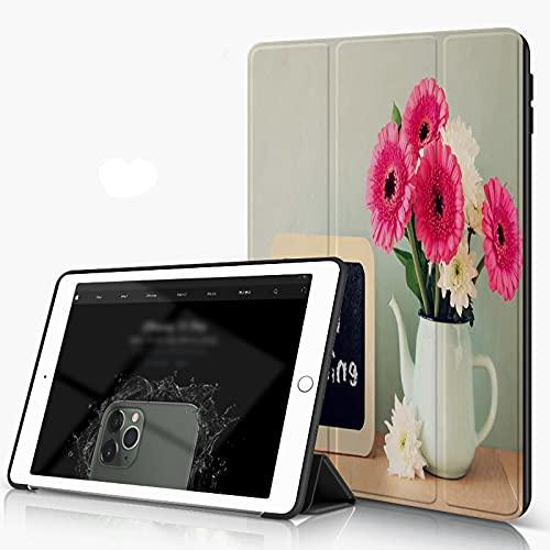 She Charm Carcasa para iPad 10.2 Inch, iPad Air 7.ª Generación,Pizarra con la Frase Buenos días escrita Junto a Flores Frescas,Incluye Soporte magnético y Funda para Dormir/Despertar