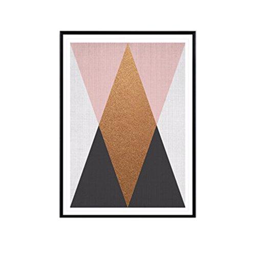 Sukisuki Peinture sur toile Motifs géométrique Décoration intérieure, #2, 30cm x 40cm