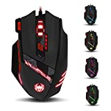 zelotes T90 Gaming Mouse 9200 DPI, 8 Buttons Multi-Modes LED lights USB Gaming