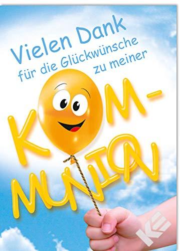 Uitnodigingskaarten communie Danksagungskarte - Ballon_D
