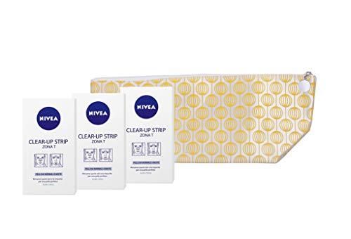 Nivea Clear-Up strips voor het verwijderen van nietjes, 3 verpakkingen + reistassen.