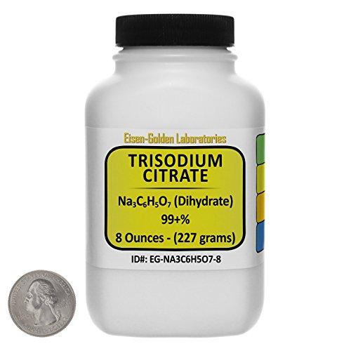 Trisodium Citrate [Na3C6H5O7] 99+% USP Grade Powder 8 Oz in a Space-Saver Bottle USA