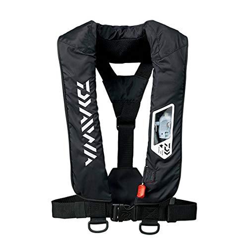 ダイワ(DAIWA) ウォッシャブルライフジャケット(肩掛けタイプ手動・自動膨脹式) ブラック フリー DF-2007
