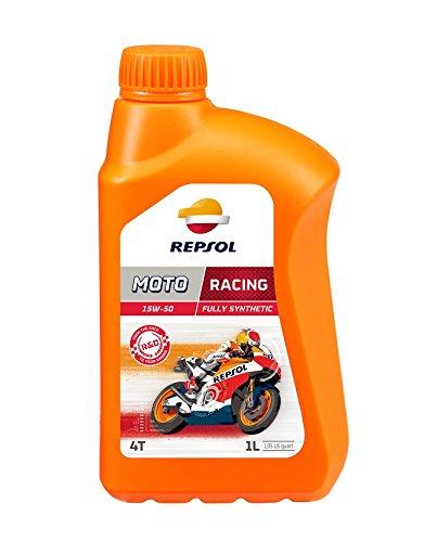 REPSOL Moto Racing 4T 15W-50 Aceite De Motor Para Moto, 1L