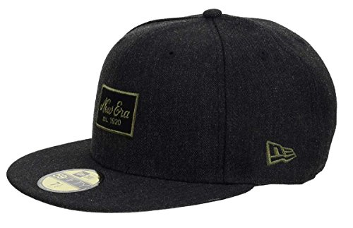 New Era NE Heather Script 59Fifty Cap Patch Dunkelgrau, Size:7 1/4