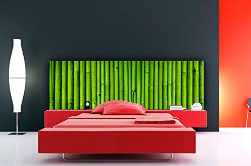 Cabecero Cama PVC Textura Bambú 150x60cm | Disponible en Varias Medidas | Cabecero Ligero, Elegante, Resistente y Económico