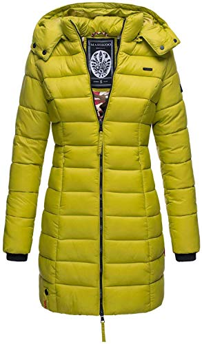 Marikoo Herbst Winter Übergangs Steppmantel Jacke Mantel gesteppt B603 (Gr.M/Gr.38, Hellgrün)