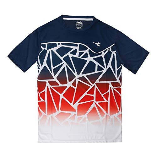 Diadora Sport 102172951 - Maglietta da Corsa da Uomo, Uomo, T-Shirt, 102172951, RSS Ferr. Italia/Bl Wind T, L