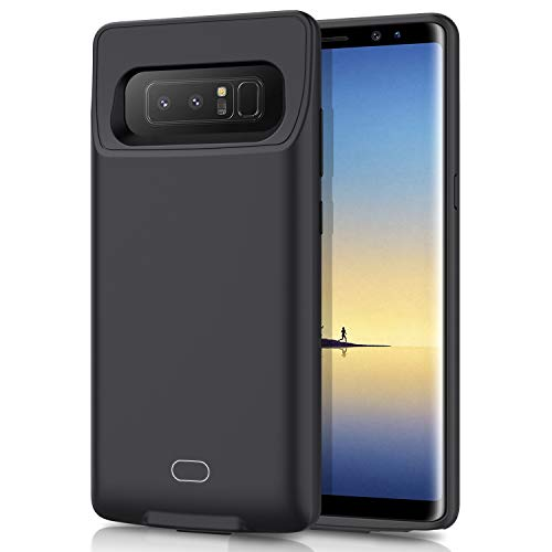 Galaxy Note 8 Battery Case 7000mAh HETP Portable Rechargeable External Battery Pack for Samsung Galaxy Note 8 Charger Case for Note 8 Protective Charging Case - Black