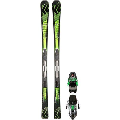 K2All Mountain de esquí, negro / verde, 182