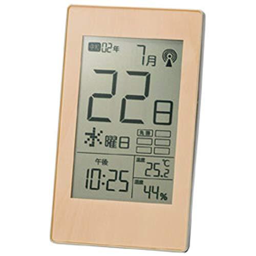 丸辰 カレンダー デジタル時計 電波 日めくり 卓上/壁掛け クロック ( 高齢者 にも わかりやすい シンプル 表示) 西暦/令和表示 ・ 六曜 ・ 温度 ・ 湿度 ・ アラーム 33893