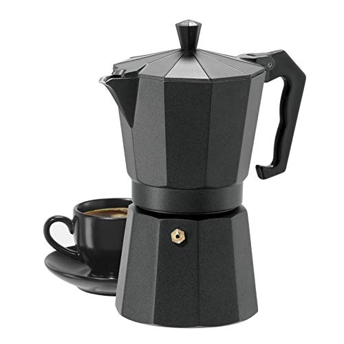 3d Creations 6 Cups Aluminum South Indian Filter Degree Coffee Machine (Black)