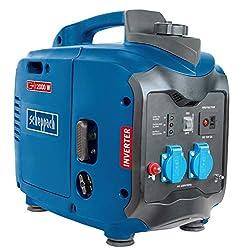 Scheppach Stromerzeuger SG2000 (2000 W, 71 dB, 2,86 PS, 105,6cm³, 4-Takt-Benzinmotor, Seilzugstarter, 3,2 L Tank, Einzylinder, Kraftstoffverbrauch 1,07 l/h)