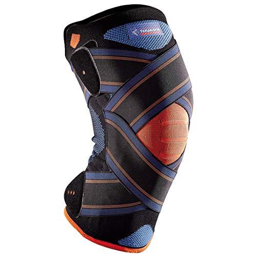 Novelastic Thuasne Sport - Ginocchiera con chiusura a strappo, colore: nero, taglia XL