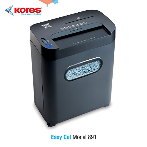 Kores Easy Cut 891 Paper Shredder | 8 Sheets Capacity | 1 Year Warranty | Microcut Shredder