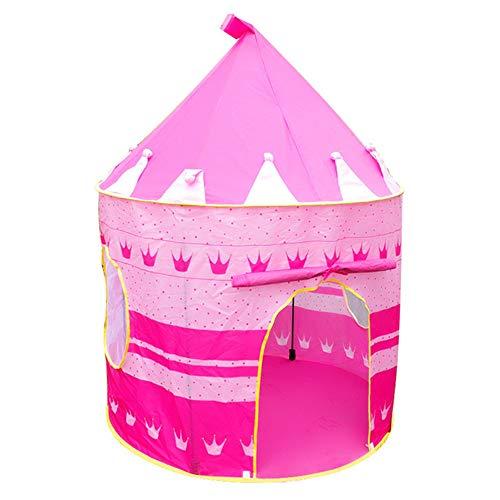 WYFDM Kinder Kinder Burg Spielzelt Spielhaus Mongolische Jurten Tipi Zelt Indoor Outdoor Garten Strand Spielzeug Spielhaus für Jungen Mädchen Prinz Prinzessin,Pink