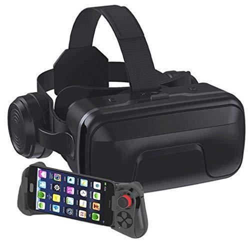 JYMYGS Gafas VR, Gafas de Realidad Virtual, VR Glasses Visión Panorámico 360 Grado Película 3D Juego Immersivo para Móviles 4.0-6.0 Pulgada para iPh X/7/6s 6/Plus, Galaxy s8/ s7, etc. N014JL