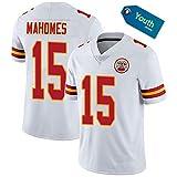 # 15 Patrick Mahomes Kansas City Chiefs Maillot de rugby classique pour homme Tailles S à XXXL, 123, blanc, XL(185~190CM)