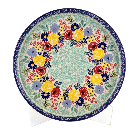 Polish Pottery - Round Tray - Garden Party - The Polish Pottery Outlet