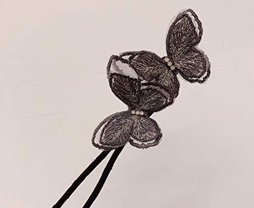 6 colores portátil elegante mariposa para hacer moños para el cabello, anillo mágico de moda, herramienta de peinado de mariposa para mujeres, niñas y mujeres (marrón)