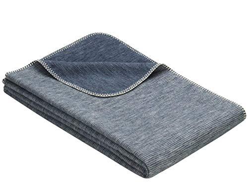 Flauschige Babydecke aus 100% Bio Baumwolle - kuschelige Baumwolldecke hergestellt in DEUTSCHLAND. Ideal als Baby Decke, Erstlingsdecke, Bettdecke oder Kuscheldecke. In Blau (für Jungen)