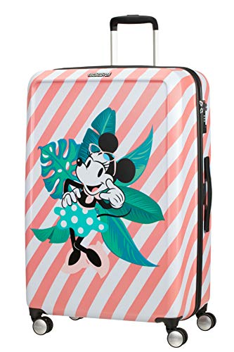 American Tourister Funlight Disney Spinner Suitcase, 77 cm, 99 L, Mehrfarbig (Minnie Miami Holiday)