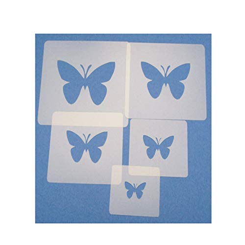 Schablonen Set ● 5 einzelne Schmetterlinge ● 7cm, 8cm, 9cm, 10cm und 11cm groß
