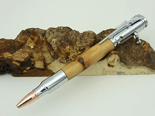 Handgedrechselter Kugelschreiber aus Eibe Holz, Jagd