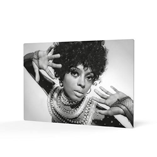HB Art Design Diana Ross in Afro Head from Photoshoot Black and White Metal Wall Art Print African American Art Icon Artwork Living Room Bedroom Decor Metal Wall Decor Home Decor Made in USA 16x24