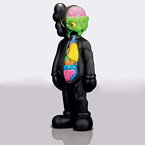 "8"" 20cm Prototype KAWS OriginalFake Companion Model Art Toys Action Figure Collectible Model Toy (Black Dissected)"